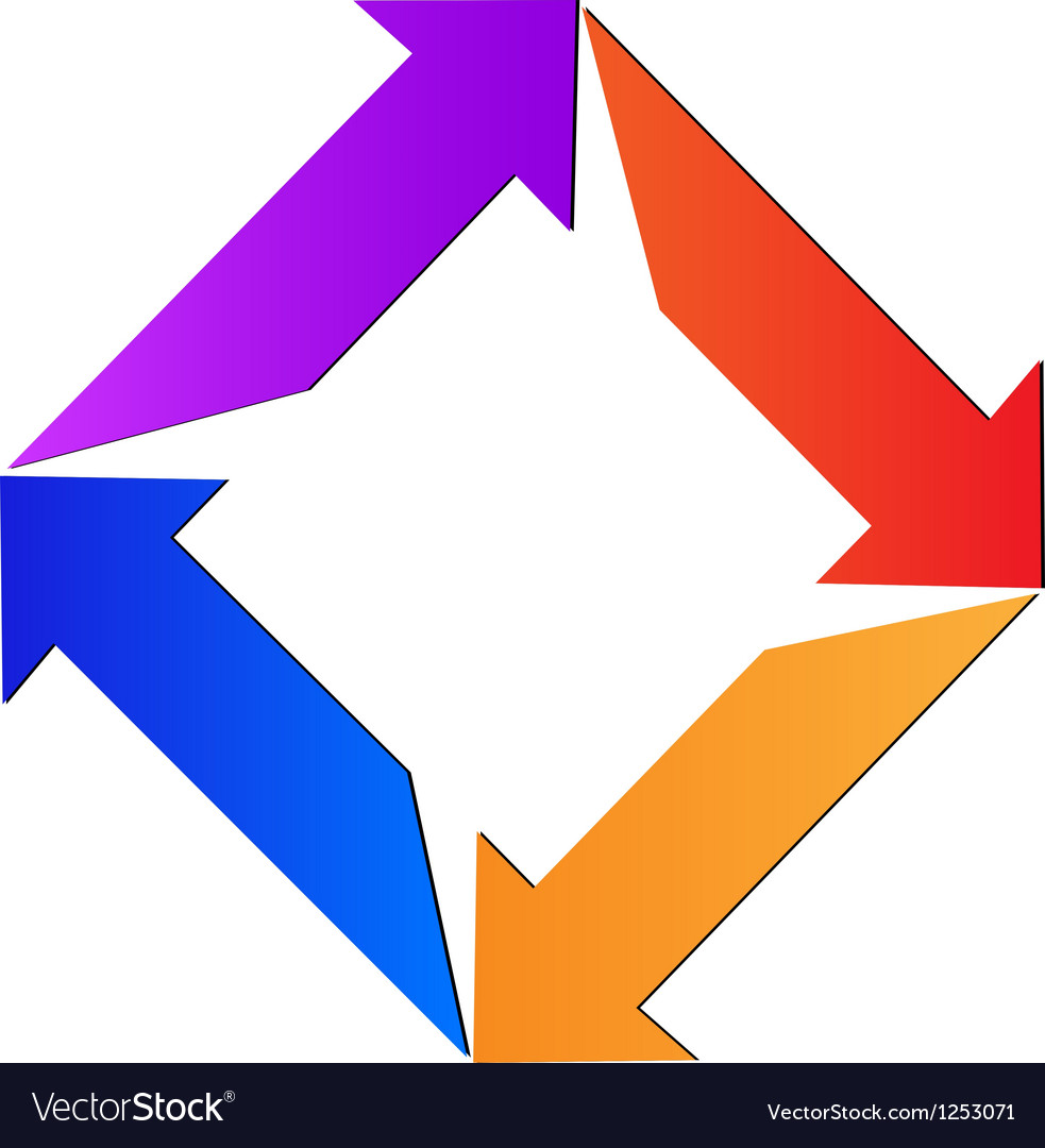 Abstract arrows logo vector | Price: 1 Credit (USD $1)