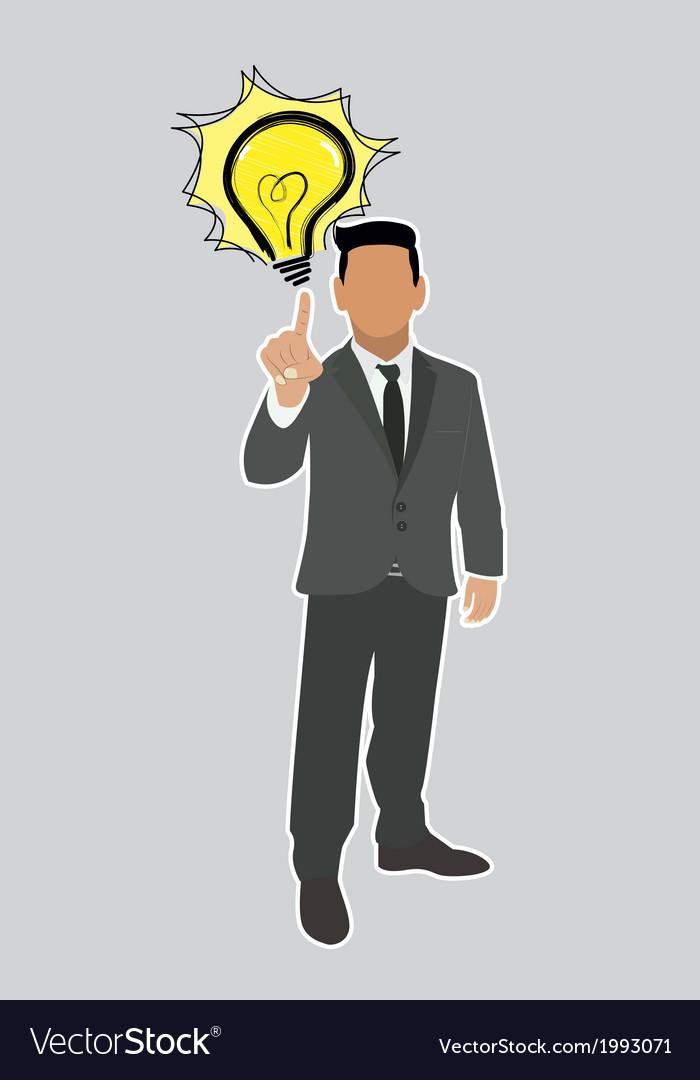 Businessman good ideas vector | Price: 1 Credit (USD $1)