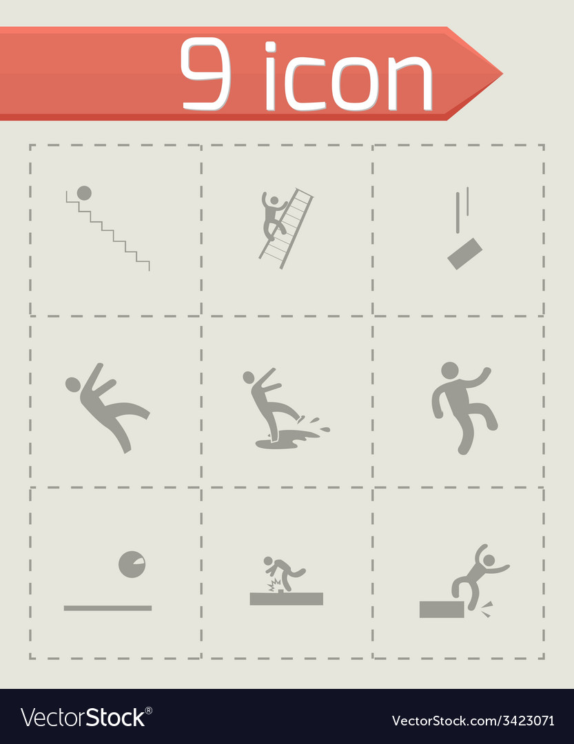 Fall icon set vector | Price: 1 Credit (USD $1)
