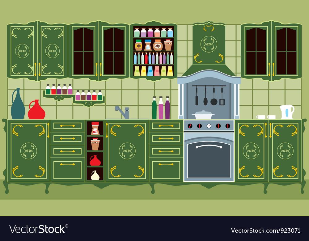 Kitchen furniture vector | Price: 3 Credit (USD $3)