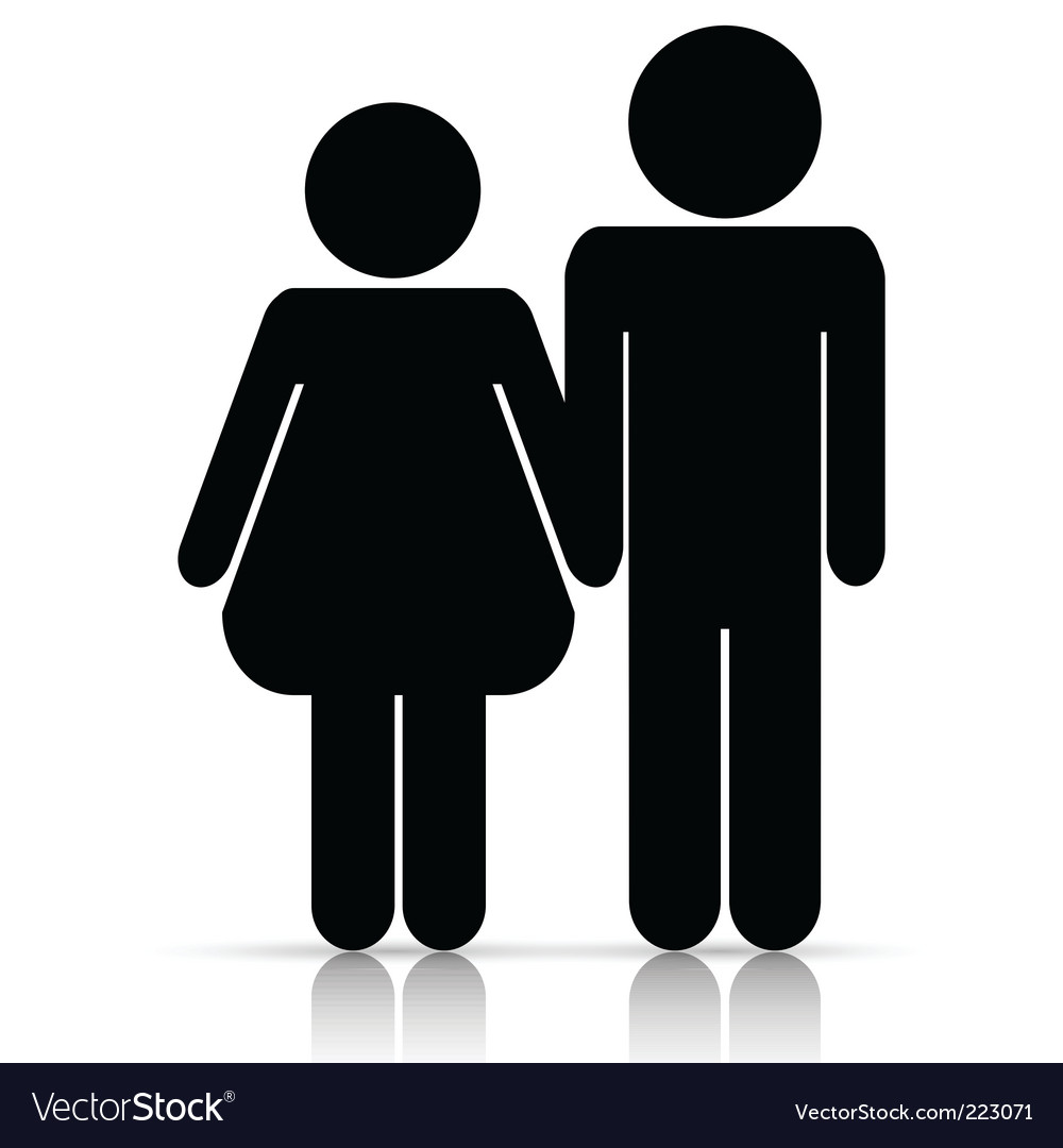 Male/female love symbol vector | Price: 1 Credit (USD $1)
