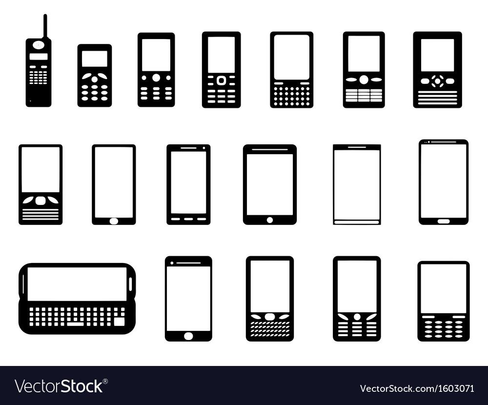 Mobile phones vector   Price: 1 Credit (USD $1)