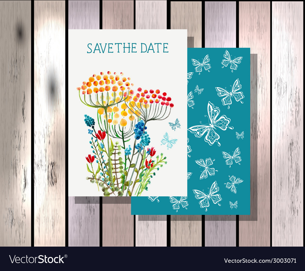 Save the date invitation template vector | Price: 1 Credit (USD $1)