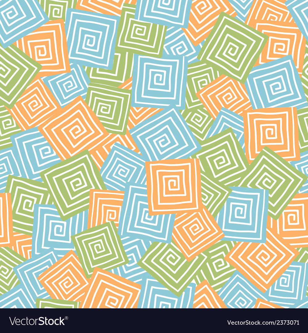 Squares with spiral  seamless pattern vector | Price: 1 Credit (USD $1)
