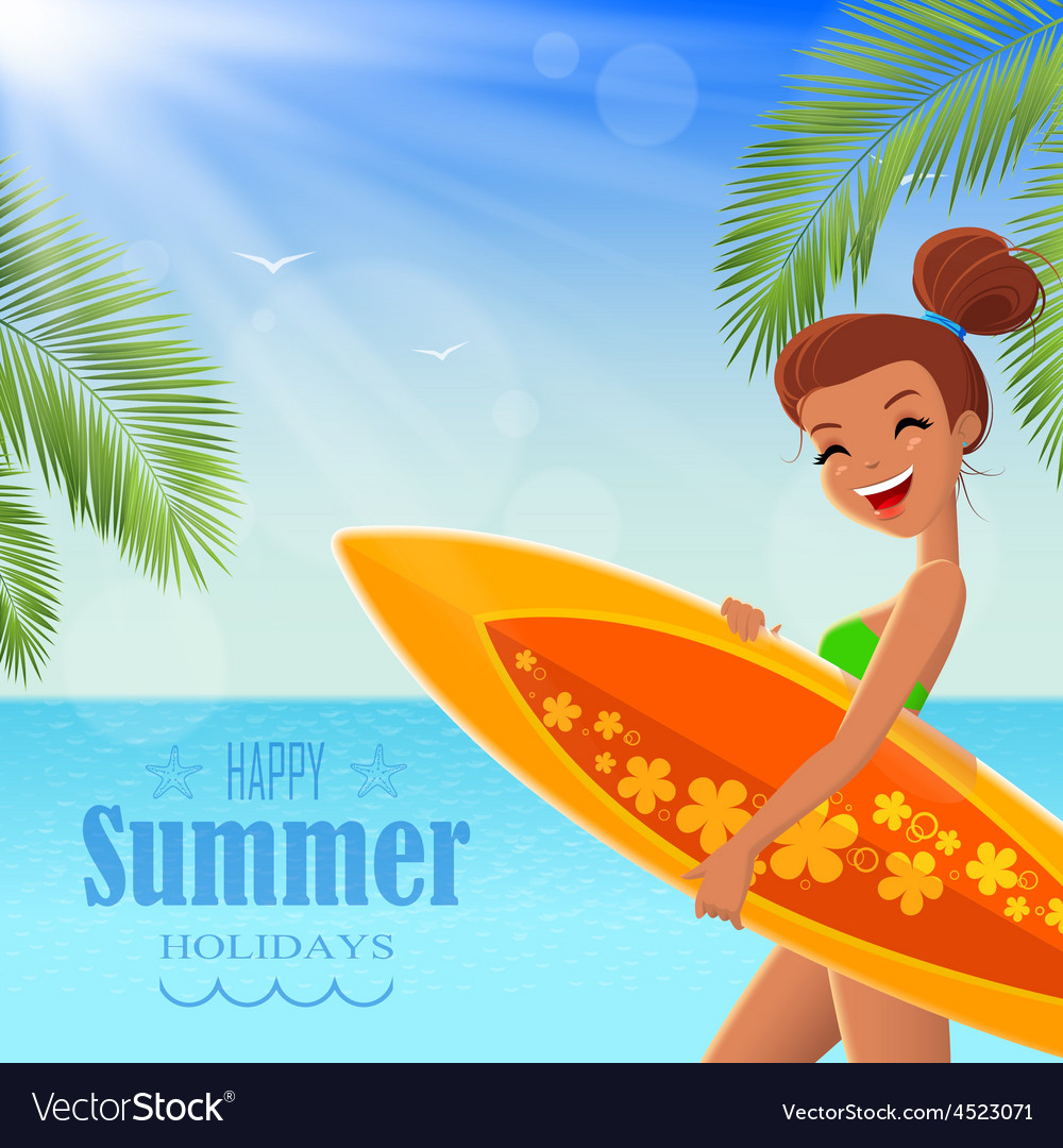 Summer poster with text badge vector | Price: 1 Credit (USD $1)