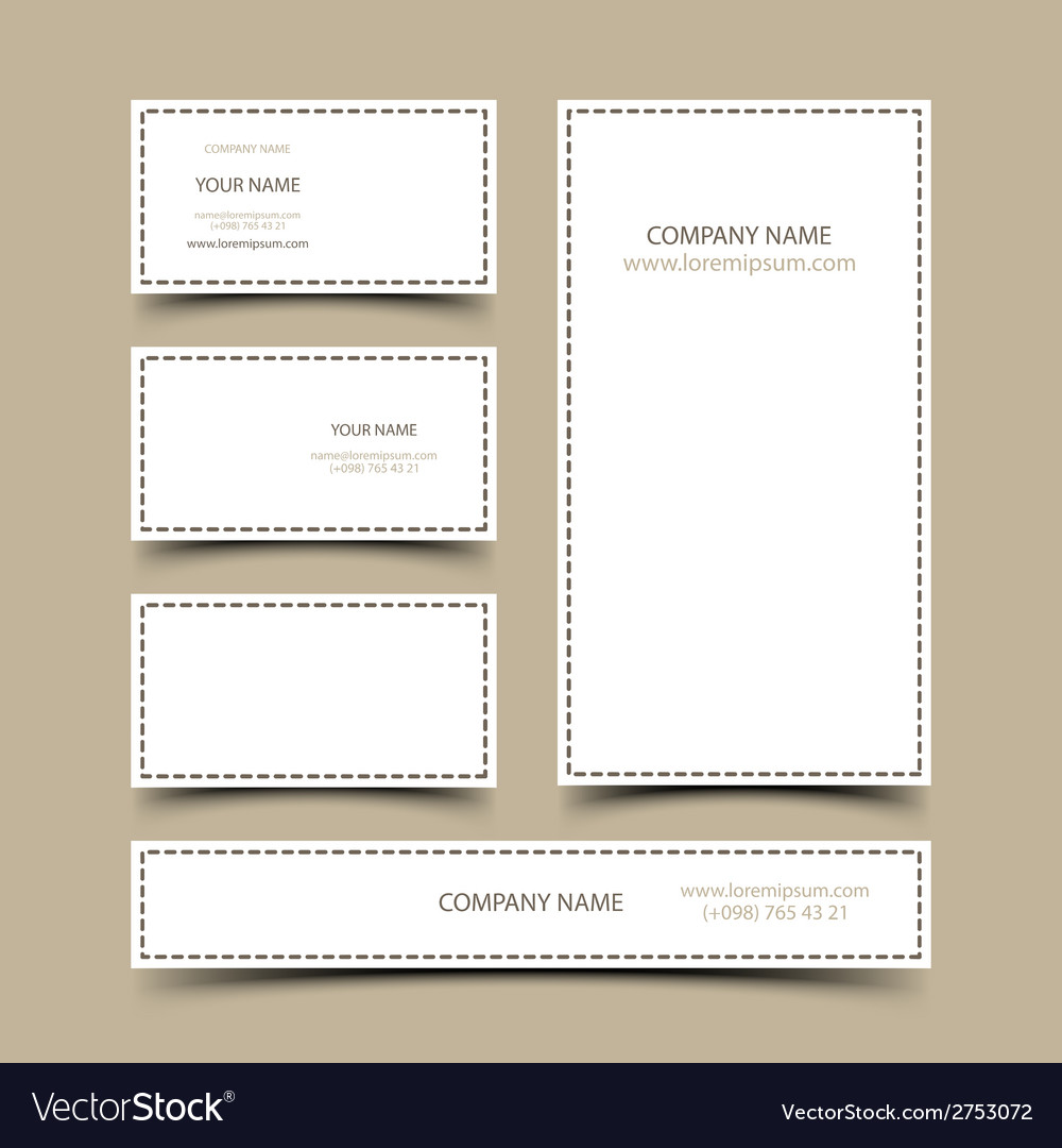 Blank business cards set vector | Price: 1 Credit (USD $1)
