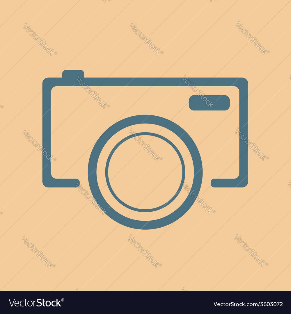 Blue camera icon on orange background vector | Price: 1 Credit (USD $1)