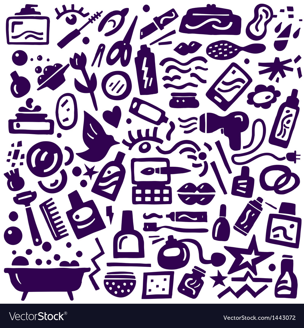 Cosmetic body care - doodles collection vector | Price: 1 Credit (USD $1)