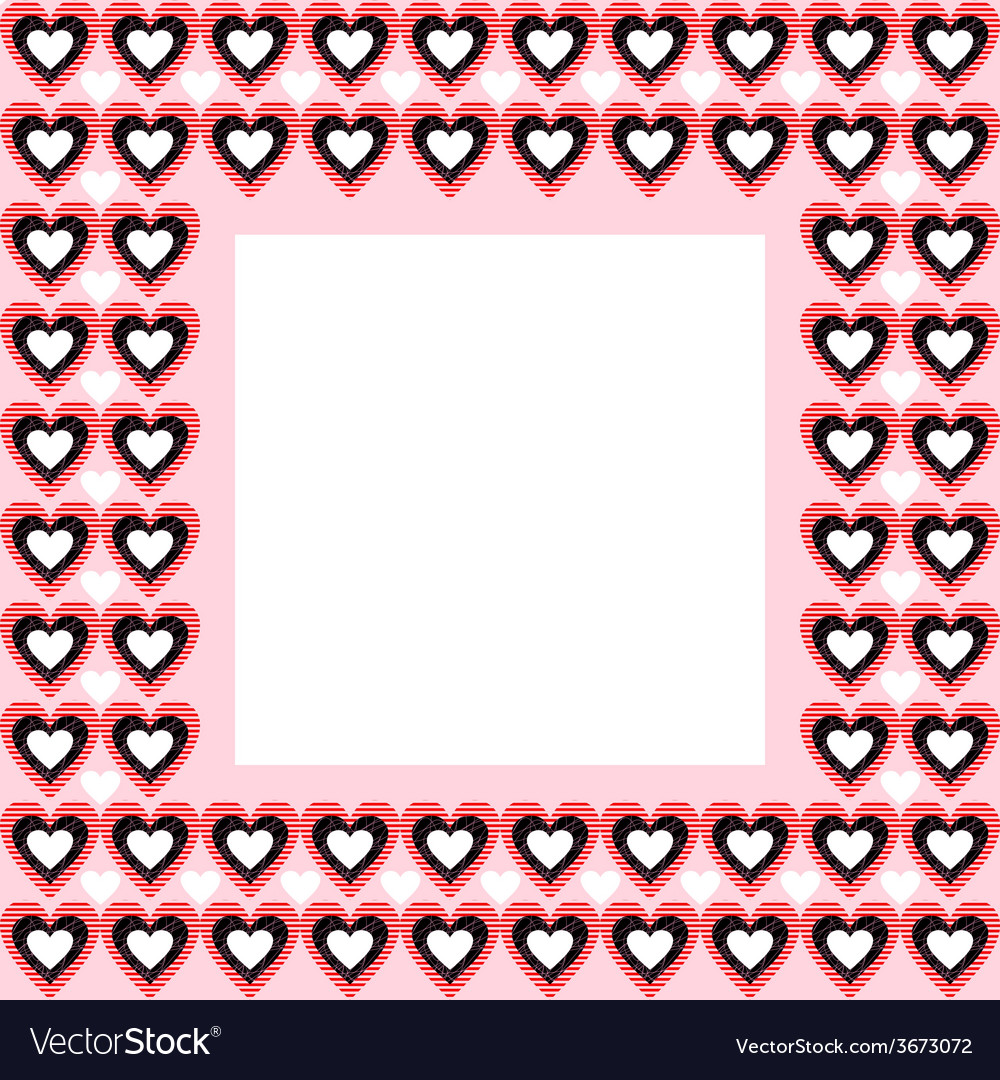 Frame from hearts and place for your text vector | Price: 1 Credit (USD $1)