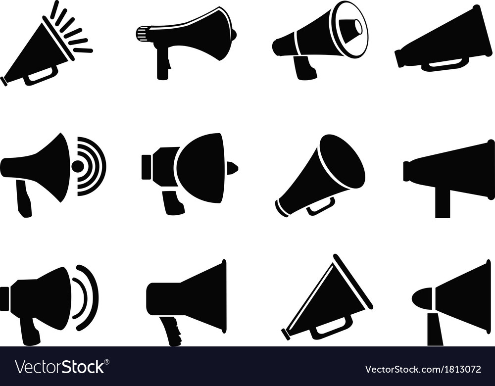 Megaphone icons vector | Price: 1 Credit (USD $1)