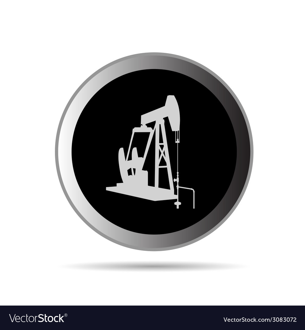 Oil pump in circle symbol vector | Price: 1 Credit (USD $1)