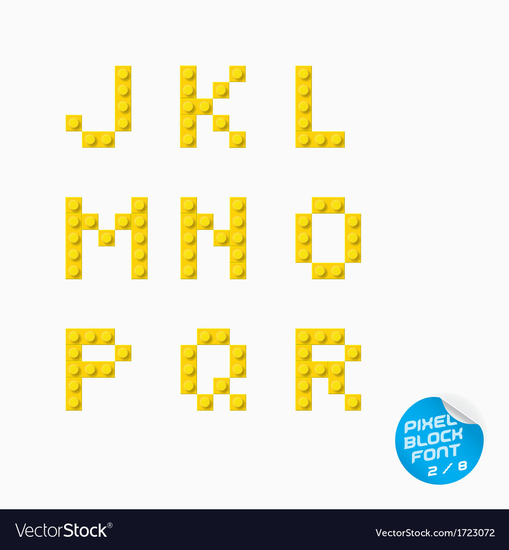 Pixel block alphabet vector | Price: 1 Credit (USD $1)