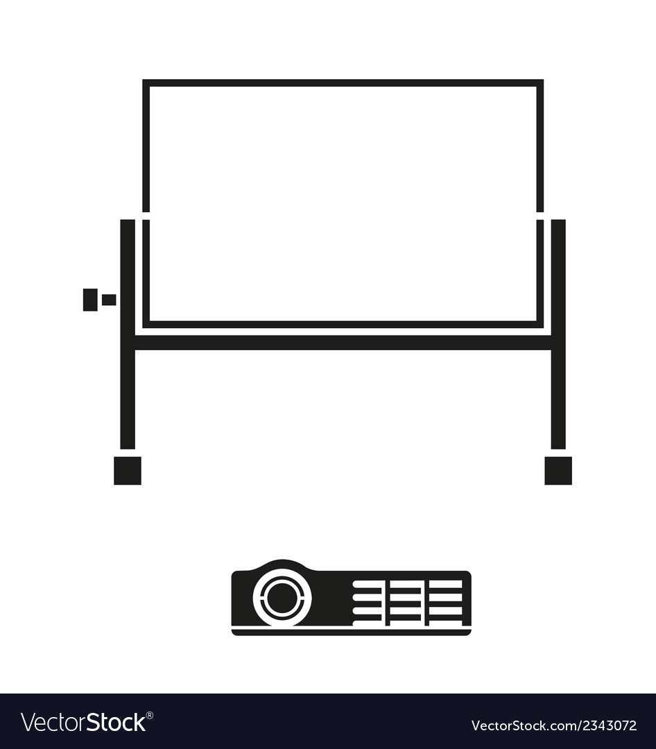 Portable projector screen icon vector | Price: 1 Credit (USD $1)
