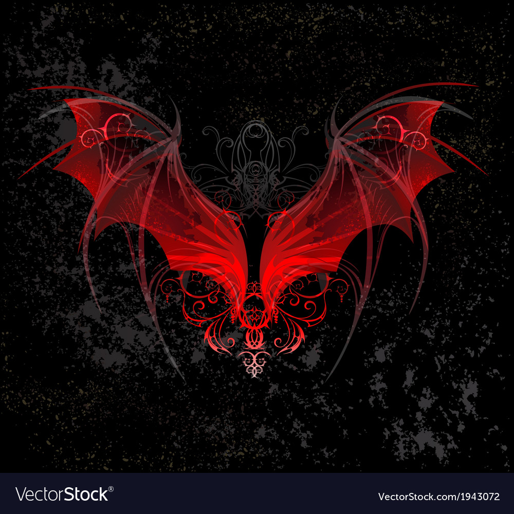Red dragon wings vector | Price: 1 Credit (USD $1)