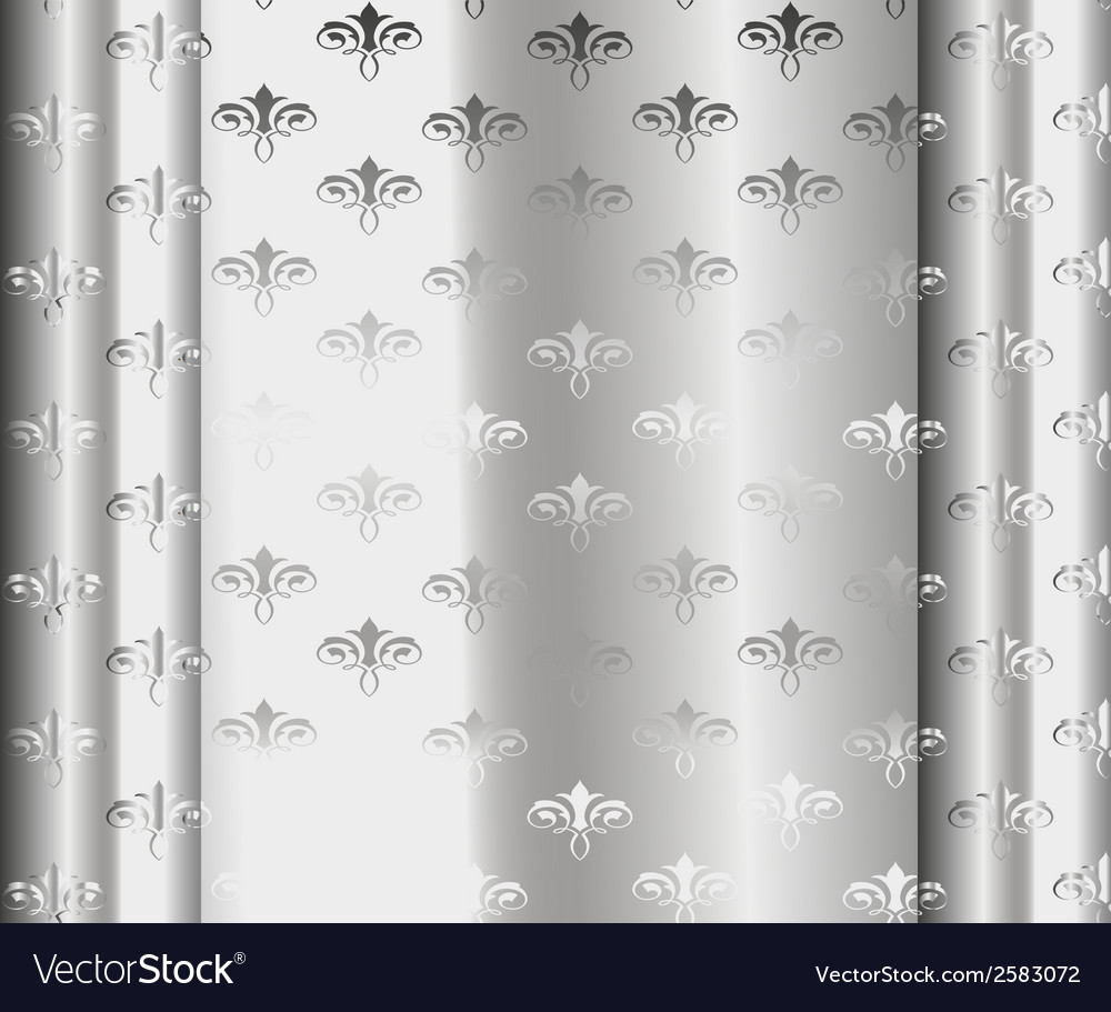 Silver luxury vintage wallpaper vector | Price: 1 Credit (USD $1)