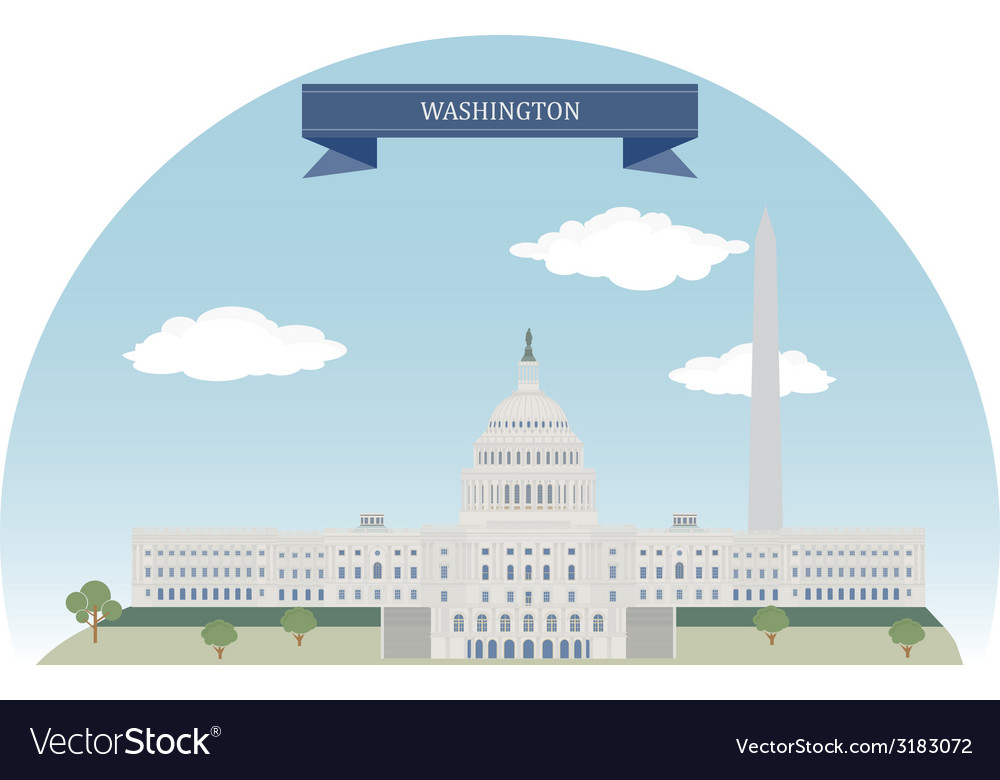 Washington vector | Price: 1 Credit (USD $1)