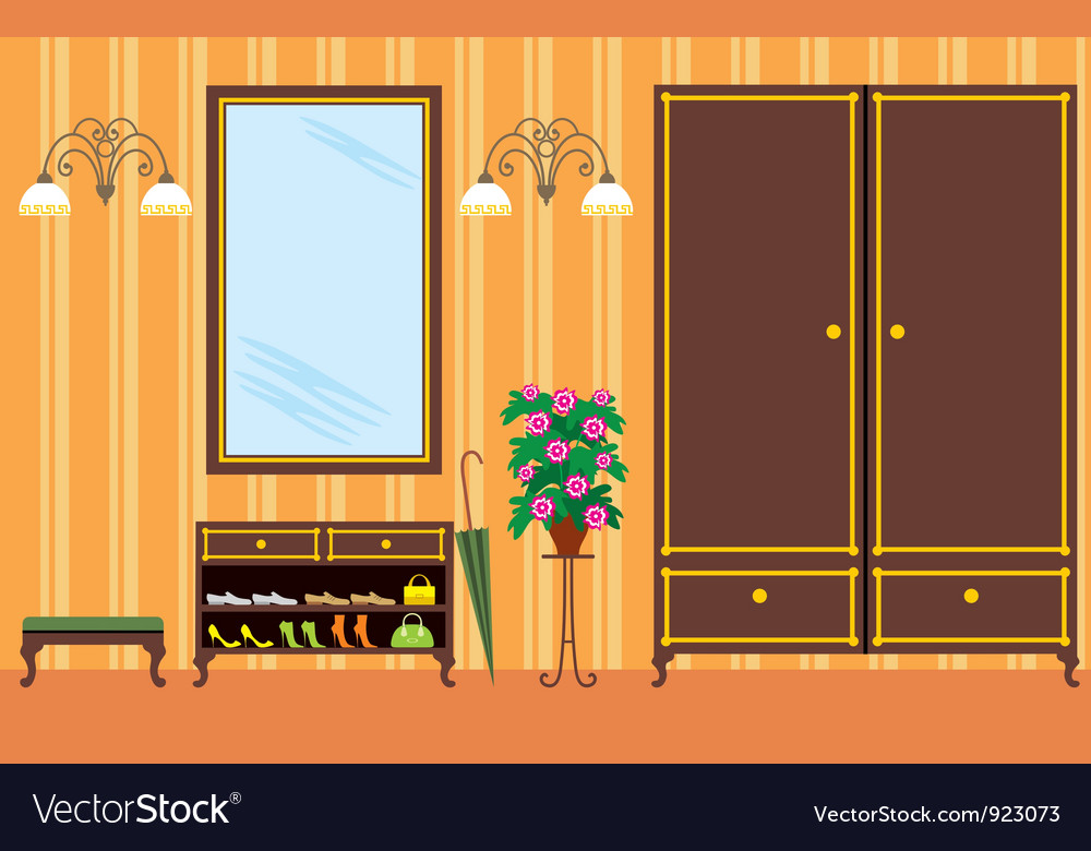 Entrance hall in apartment vector | Price: 3 Credit (USD $3)