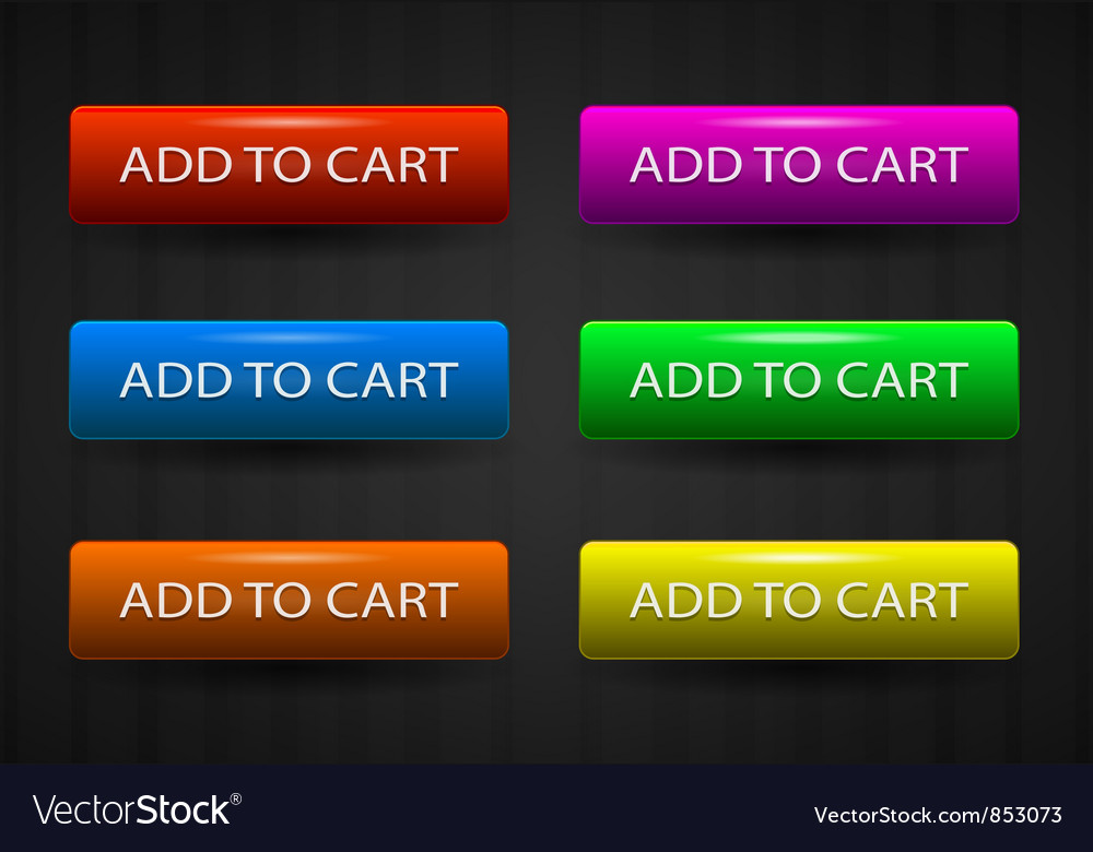 Glossy add to cart buttons set vector   Price: 1 Credit (USD $1)