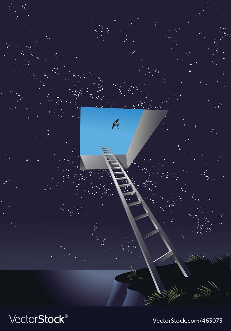 Ladder to heaven vector | Price: 3 Credit (USD $3)