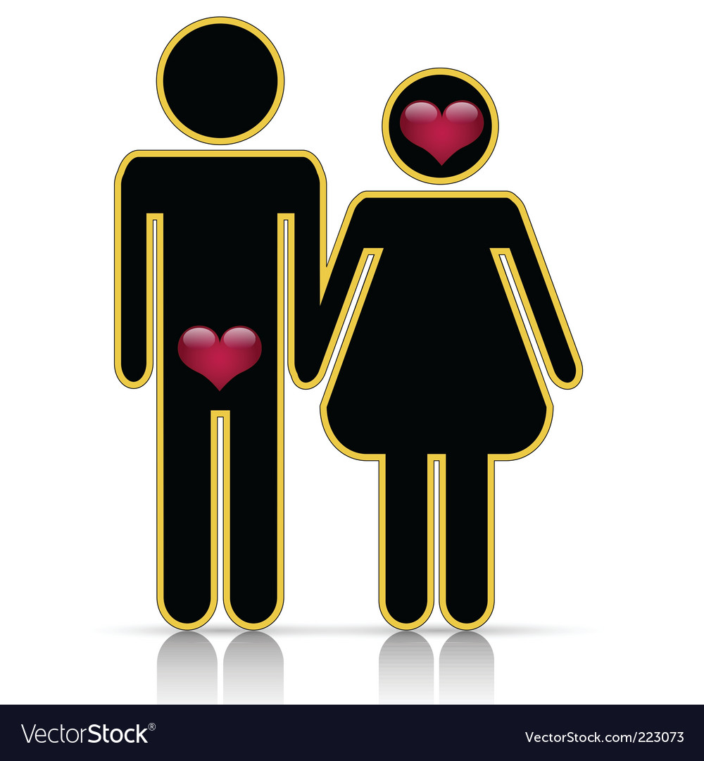 Male/female symbol of love vector | Price: 1 Credit (USD $1)