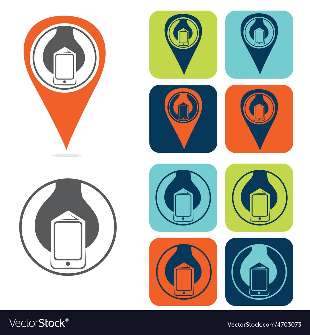 Mobile development icon set flat design vector   Price: 1 Credit (USD $1)