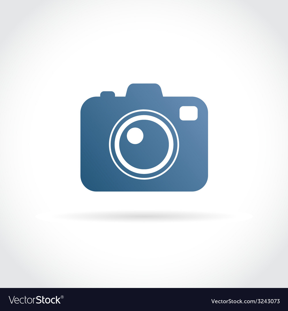 Photo camera flat icon vector | Price: 1 Credit (USD $1)