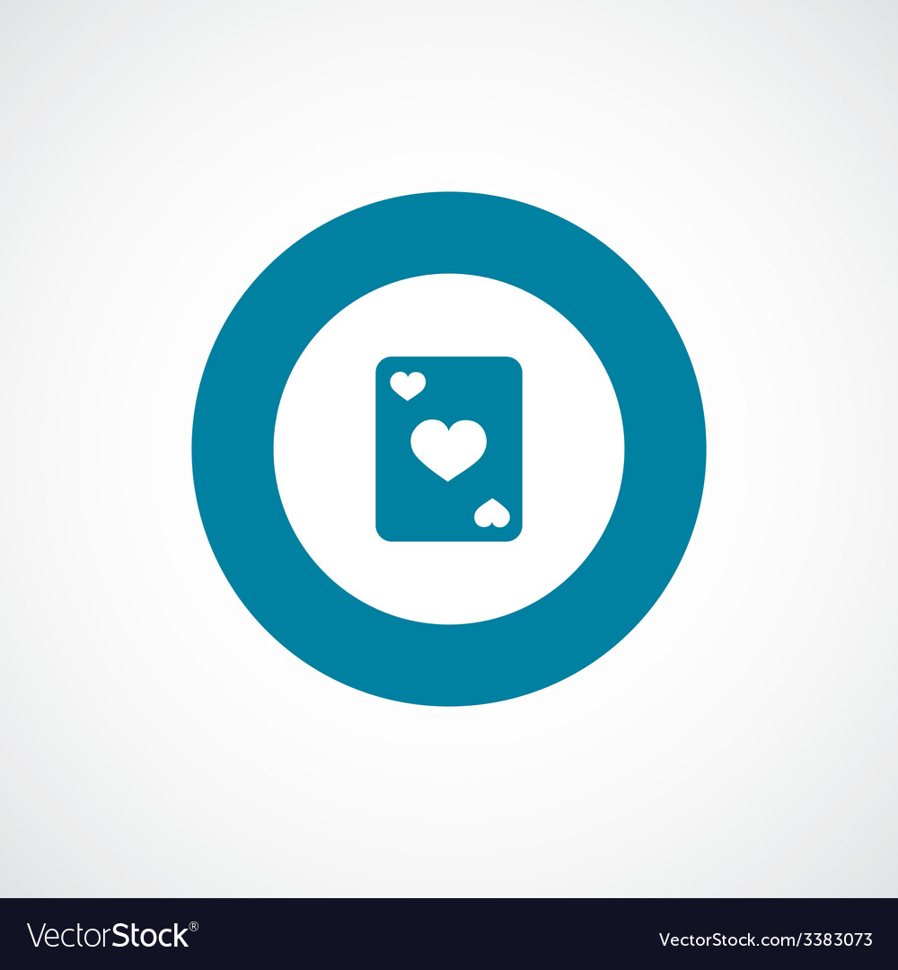 Poker bold blue border circle icon vector | Price: 1 Credit (USD $1)