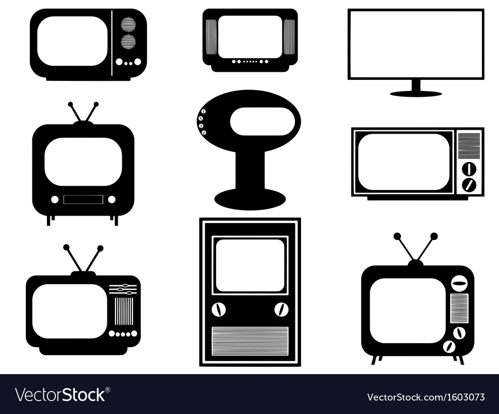 Retro and modern tv vector | Price: 1 Credit (USD $1)