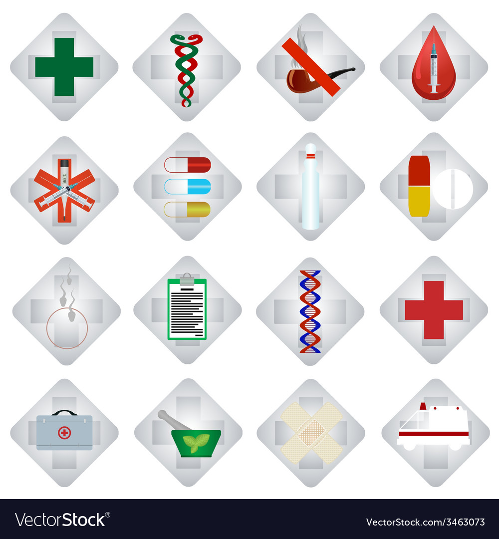 Set of medical icons-2 vector | Price: 1 Credit (USD $1)