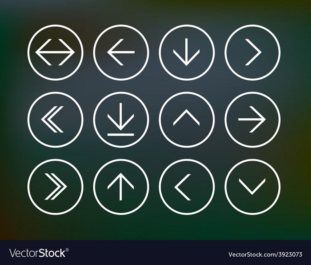 Set of round arrow icons vector | Price: 1 Credit (USD $1)