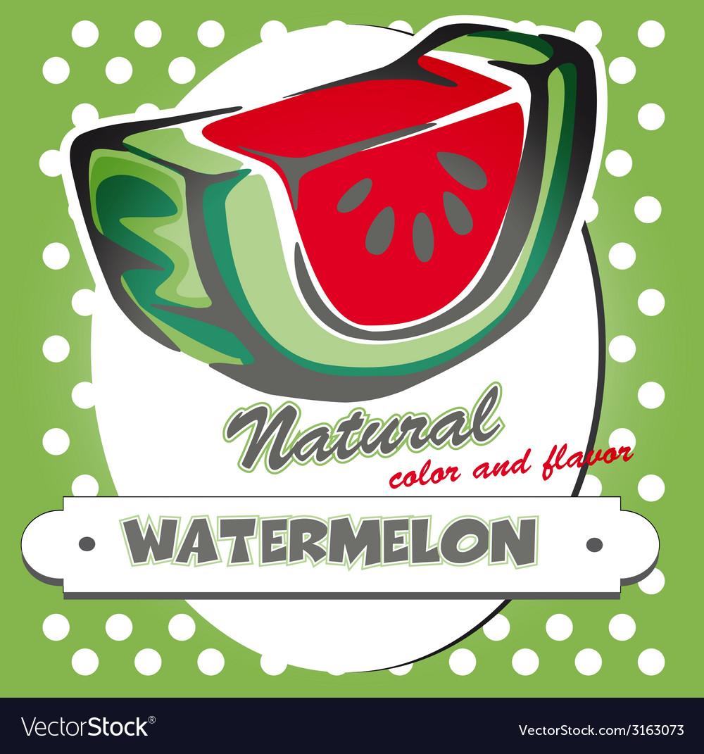 Watermelon poster vector | Price: 1 Credit (USD $1)