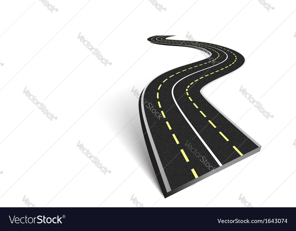 Abstract asphalt road vector | Price: 1 Credit (USD $1)
