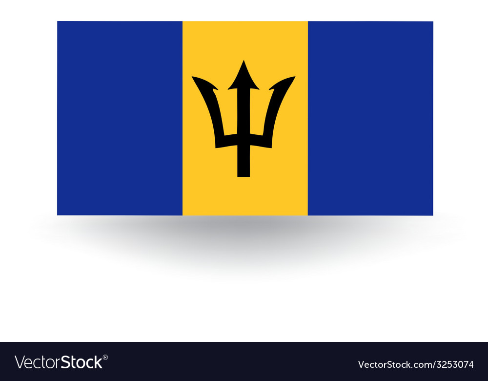 Barbados flag vector | Price: 1 Credit (USD $1)