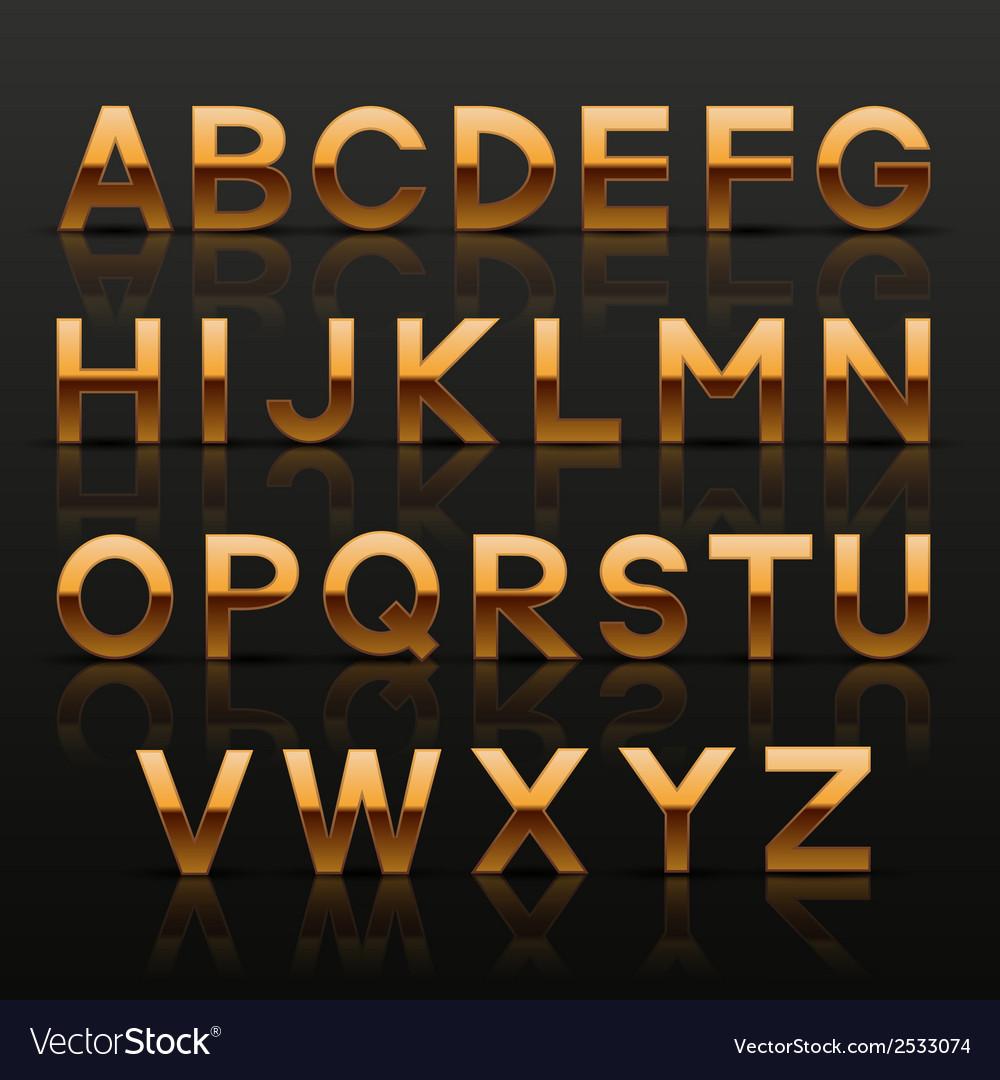 Decorative golden alphabet vector | Price: 1 Credit (USD $1)