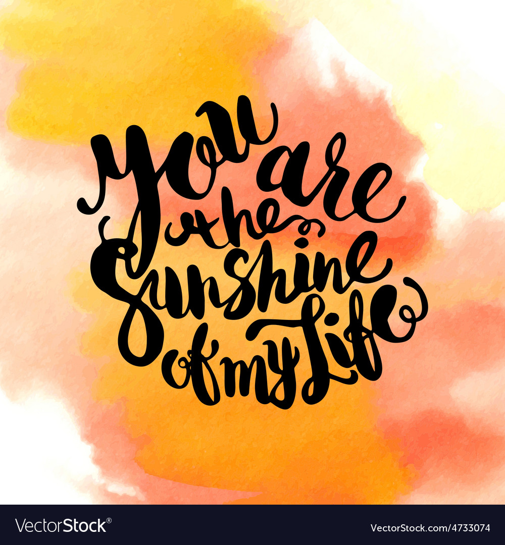 Hand drawn watercolor lettering poster-sun with vector   Price: 1 Credit (USD $1)