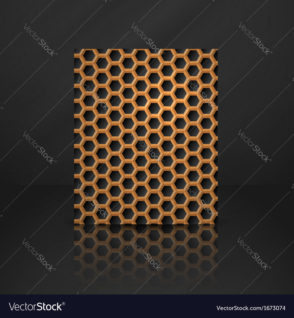 Hexagon metal banner vector | Price: 1 Credit (USD $1)