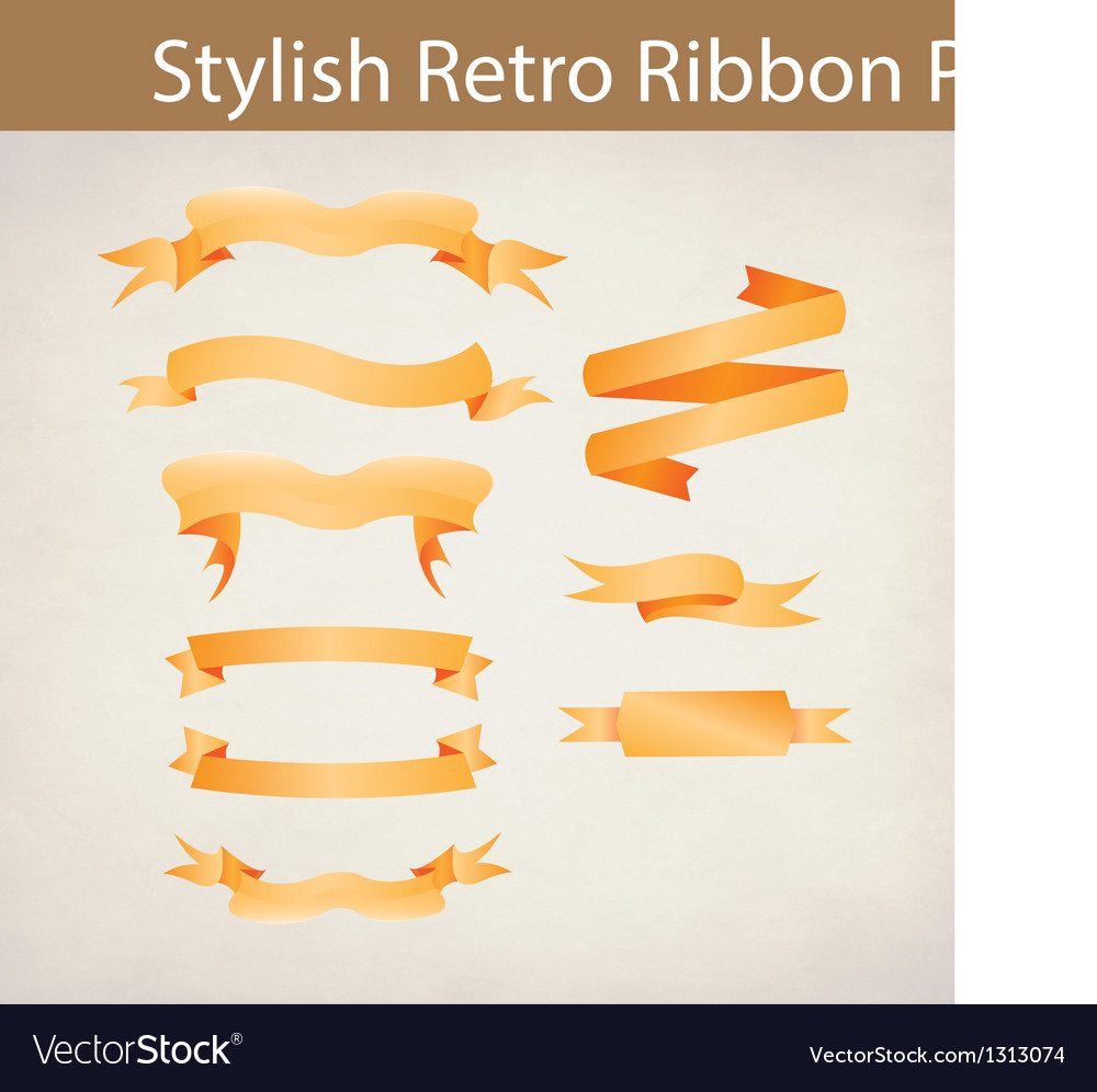 Preview ribbon pack vector | Price: 1 Credit (USD $1)