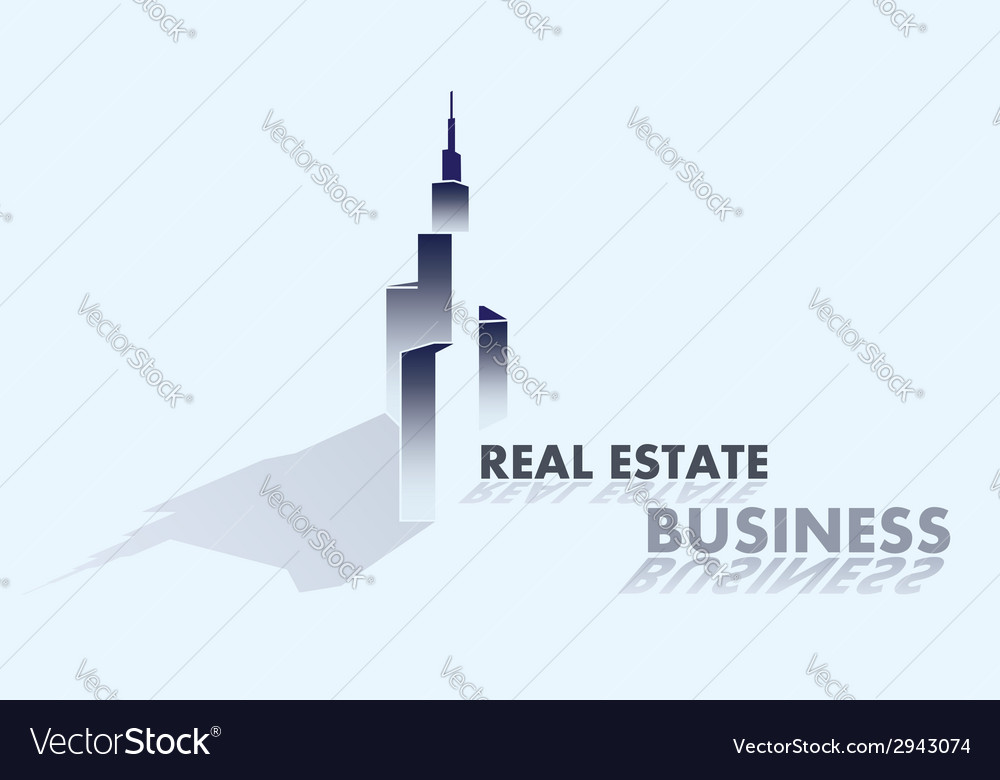 Real estate business grey vector | Price: 1 Credit (USD $1)