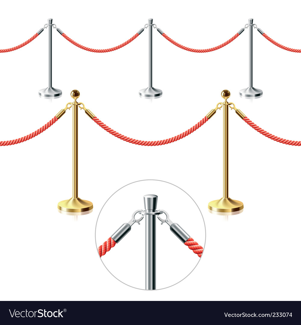 Rope barrier vector | Price: 3 Credit (USD $3)