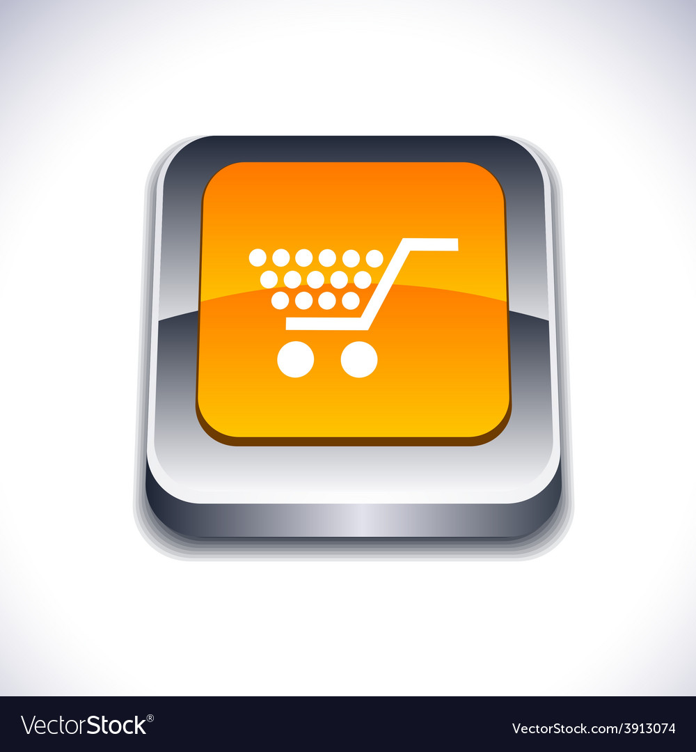 Shopping 3d button vector | Price: 1 Credit (USD $1)