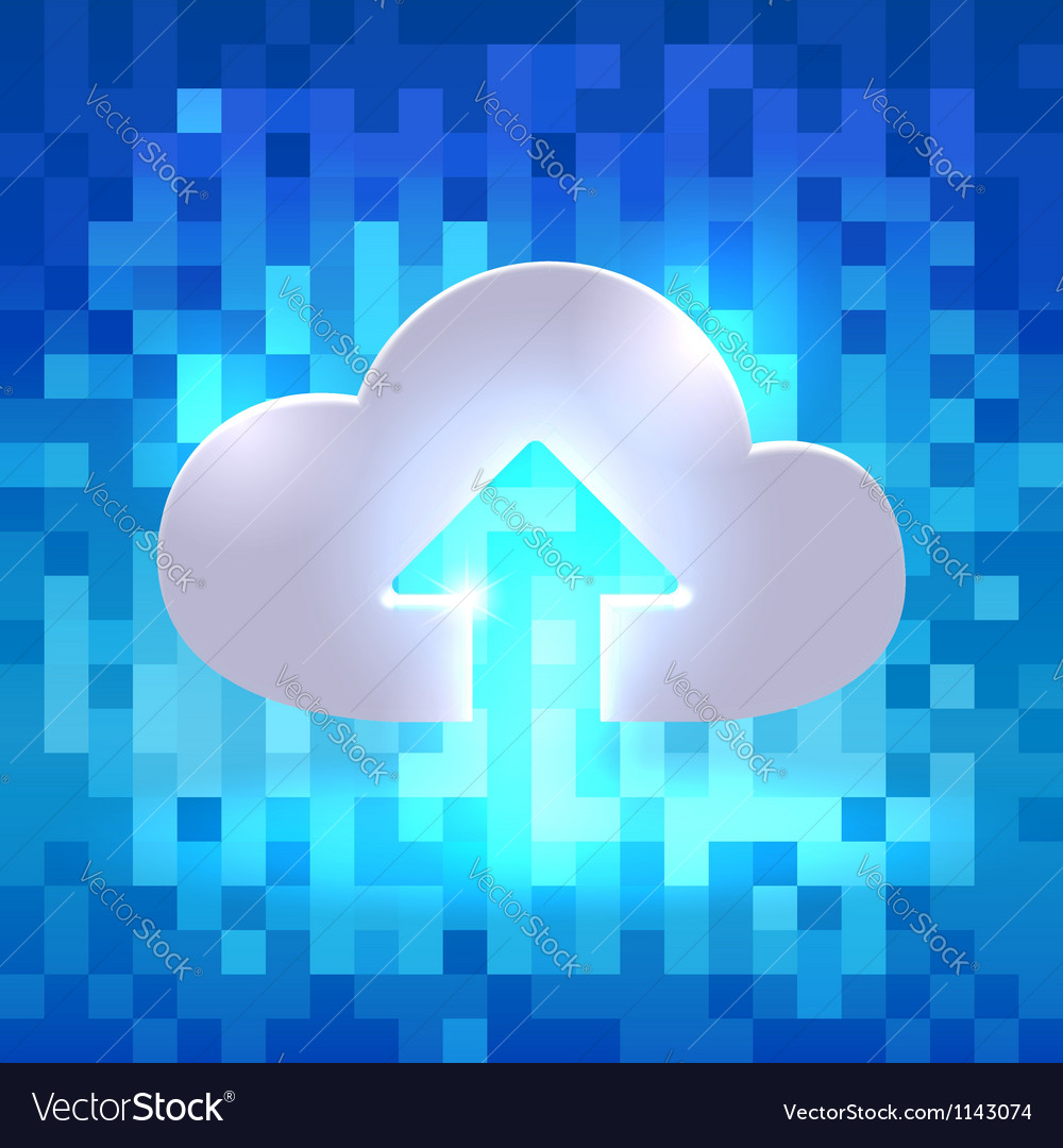 Uploading active cloud icon vector | Price:  Credit (USD $)
