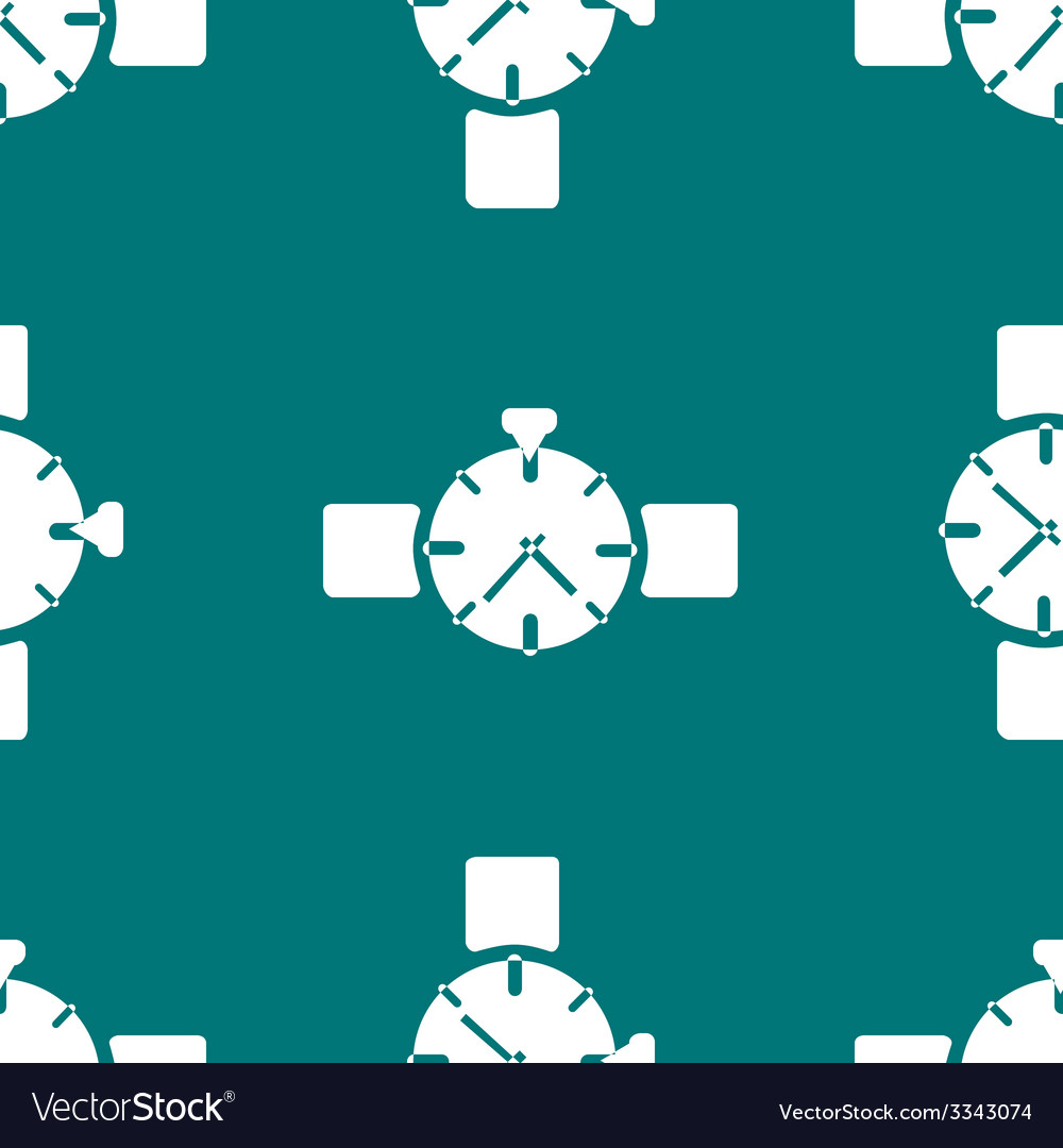 Watchclock web icon flat design seamless gray vector | Price: 1 Credit (USD $1)