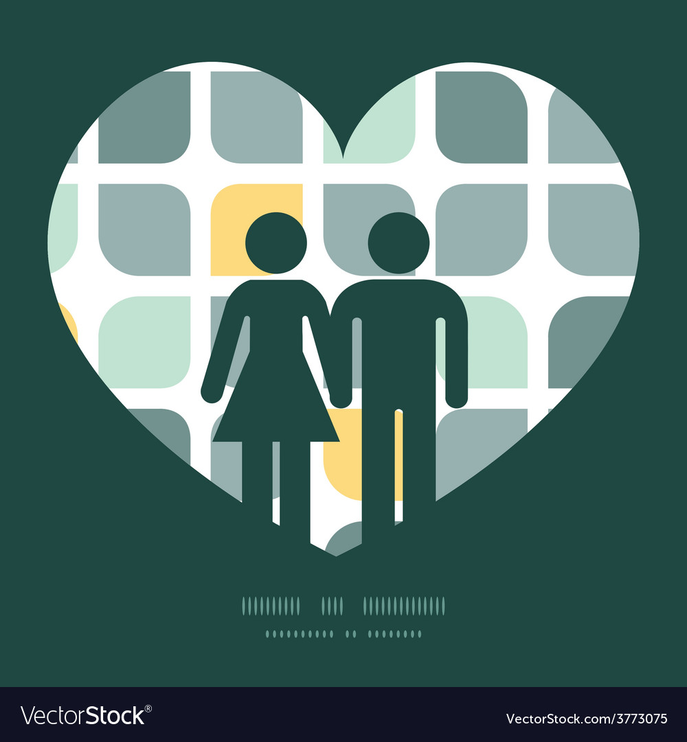 Abstract gray yellow rounded squares couple vector | Price: 1 Credit (USD $1)