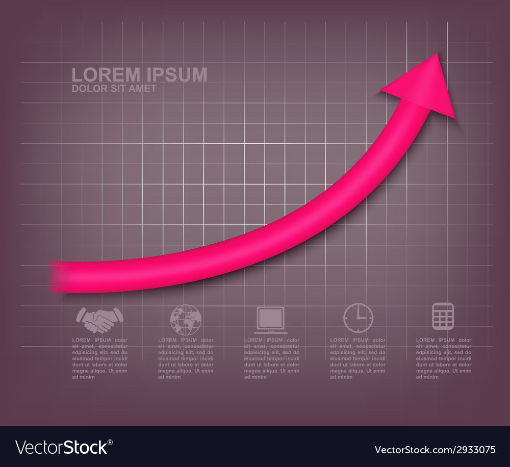 Arrow up graph vector | Price: 1 Credit (USD $1)