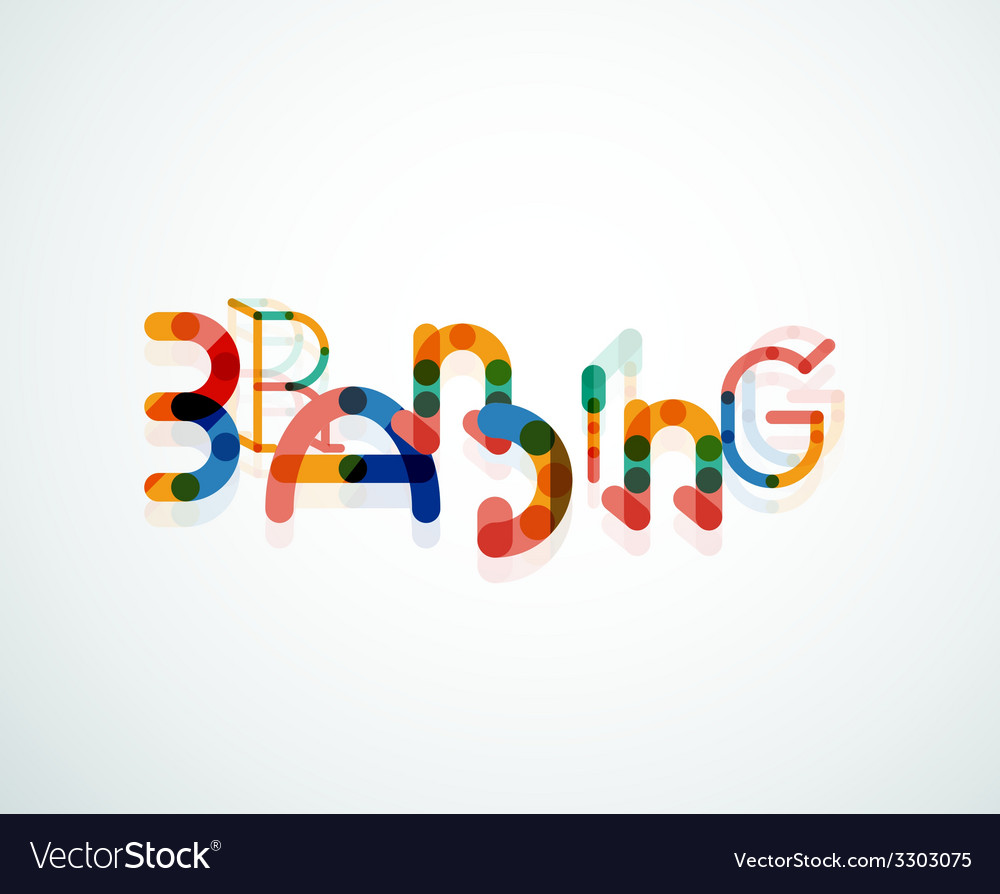 Branding font word concept vector   Price: 1 Credit (USD $1)