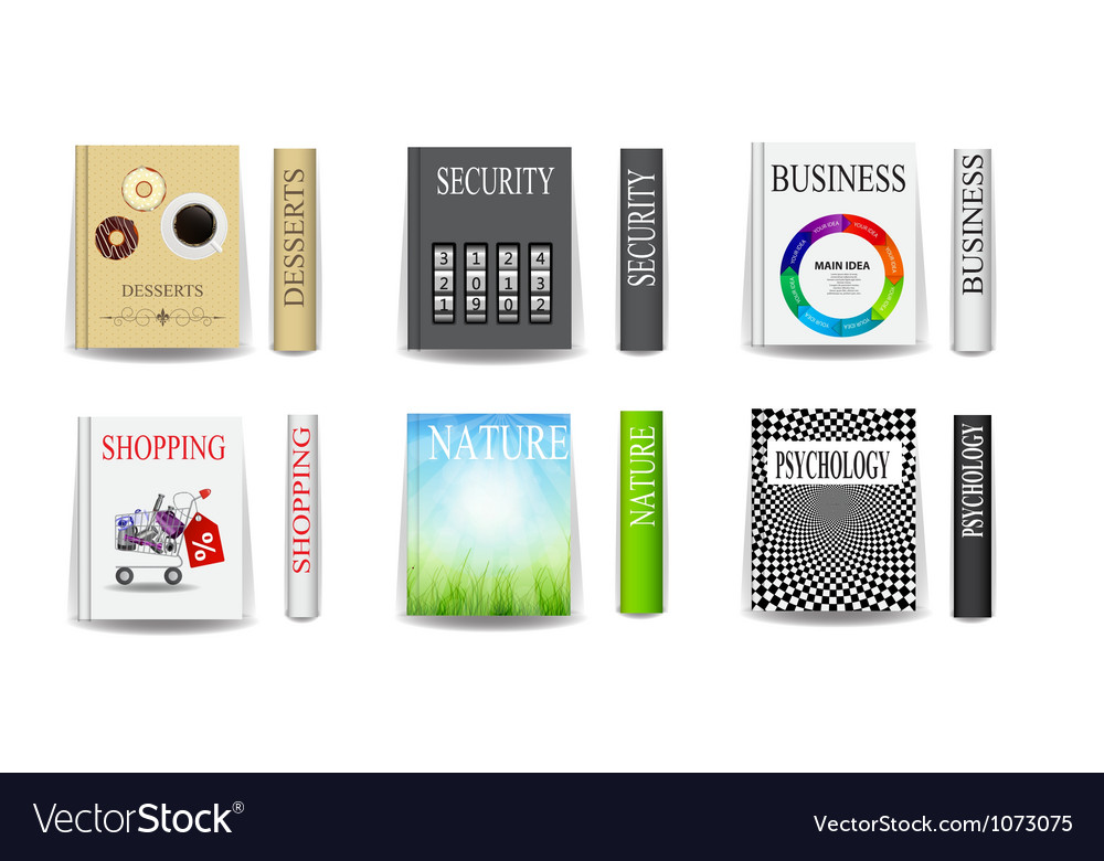 Different books vector | Price: 1 Credit (USD $1)