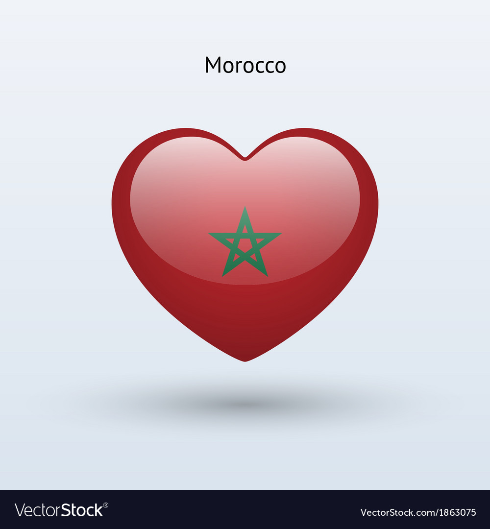 Love morocco symbol heart flag icon vector | Price: 1 Credit (USD $1)