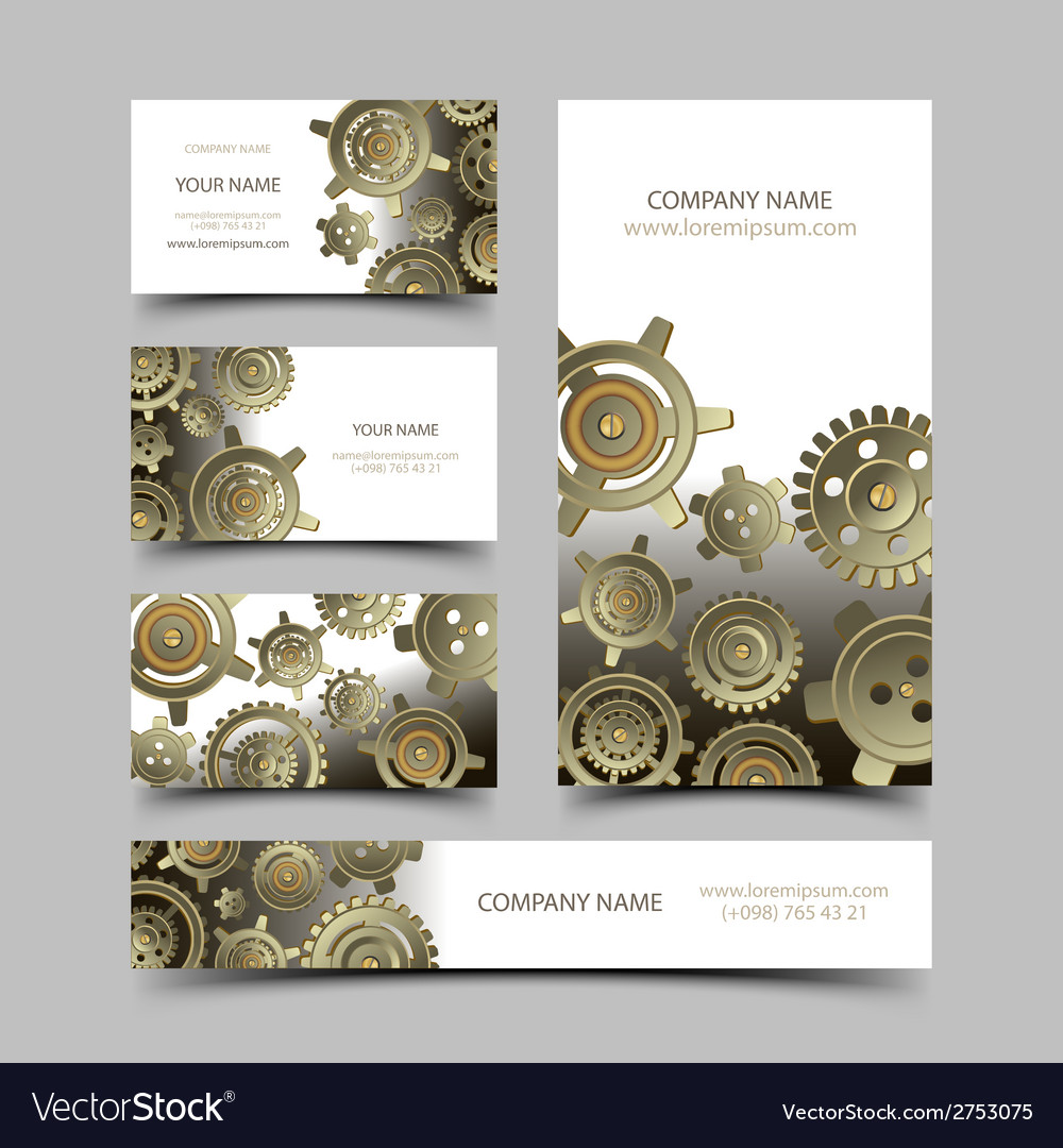 Mechanic business cards set vector | Price: 1 Credit (USD $1)