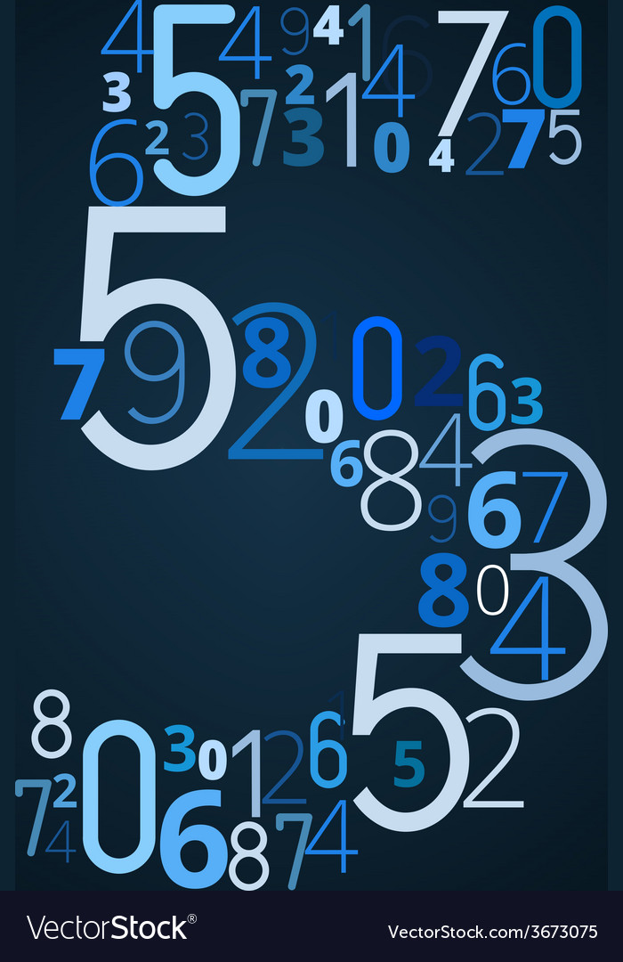Number 5 font from numbers vector | Price: 1 Credit (USD $1)