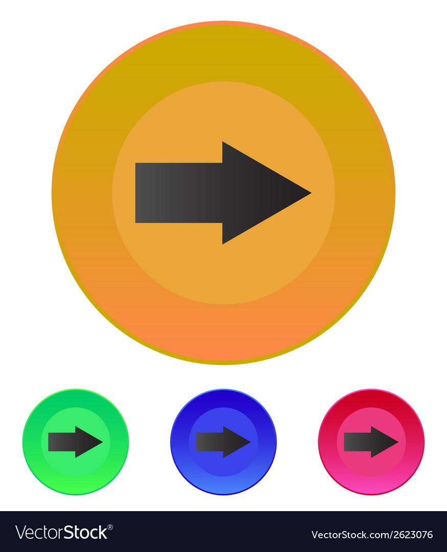 Arrow right icon vector | Price: 1 Credit (USD $1)